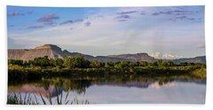 Mount Garfield In The Evening Light Beach Sheet