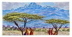Mount Kenya 2 Beach Towel
