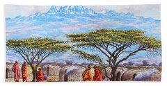 Mount Kenya 3 Beach Towel
