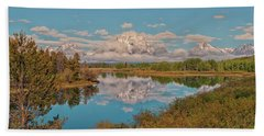 Mount Moran On Oxbow Bend Beach Towel