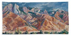 Mount Olympus In Autumn  Beach Towel