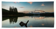 Mount Rundle And Two Jack Lake Beach Sheet