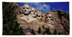 Mount Rushmore 008 Beach Sheet by George Bostian
