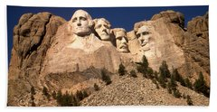 Mount Rushmore National Monument Beach Sheet by Art America Gallery Peter Potter