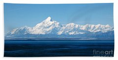 Mount Saint Elias. Yakutat Bay Seascapes Beach Sheet