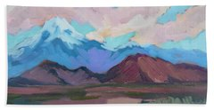Beach Sheet featuring the painting Mount San Gorgonio by Diane McClary