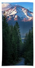 Mount Shasta - A Roadside View Beach Sheet
