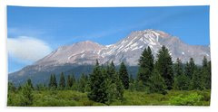 Beach Towel featuring the photograph Mount Shasta Ca 07 15 07 by Joyce Dickens