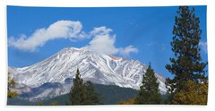 Mount Shasta California Beach Sheet