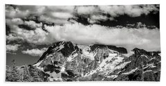 Beach Towel featuring the photograph Mount Shuksan Under Clouds by Jon Glaser