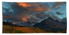 Mount Sneffels Sunset During Autumn In Colorado Beach Towel