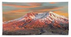 Mount St Helens Sunset Washington State Beach Towel