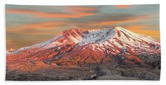 Mount St Helens Sunset Washington State Beach Towel