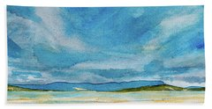 View Of Mount Wellington From South Bruny Island Beach Towel