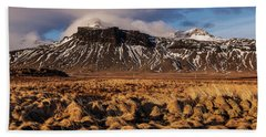 Mountain And Land, Iceland Beach Towel
