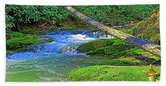 Mountain Appalachian Stream Beach Towel