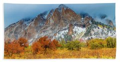 Mountain Autumn Color Beach Towel by Teri Virbickis