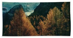 Mountain Autumn Beach Sheet