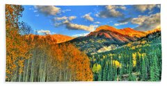 Mountain Beauty Of Fall Beach Towel by Scott Mahon