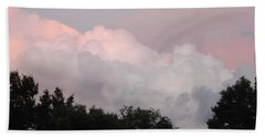 Beach Towel featuring the photograph Mountain Clouds 2 by Don Koester