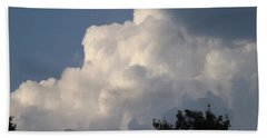 Beach Towel featuring the photograph Mountain Clouds 6 by Don Koester