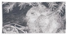 Mountain Cottontail Beach Towel