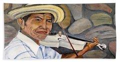 Mountain Fiddler Beach Sheet by Marilyn McNish