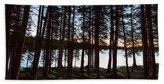 Beach Towel featuring the photograph Mountain Forest Lake by James BO Insogna