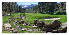 Mountain Golf Course Beach Towel