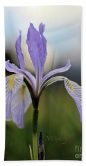 Mountain Iris With Bud Beach Sheet
