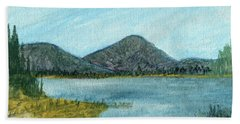 Mountain Lake Beach Towel by R Kyllo