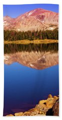 Beach Sheet featuring the photograph Mountain Lake Reflections by John De Bord