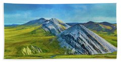 Mountain Landscape Digital Art Beach Towel