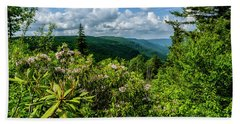 Beach Towel featuring the photograph Mountain Laurel And Ridges by Thomas R Fletcher