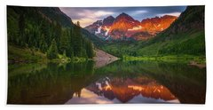Beach Towel featuring the photograph Mountain Light Sunrise by Darren White