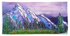 Mountain Meadow Landscape Scene Beach Towel