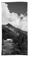 Mountain Mining Home In Black And White Beach Towel