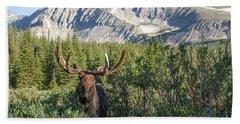 Mountain Moose Beach Towel