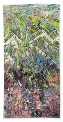 Mountain Of Many Colors Beach Sheet by George Riney