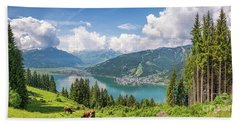 Mountain Panorama Beauty Beach Towel by JR Photography