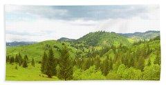 Mountain Panorama In Bucovina County - Romania Beach Towel