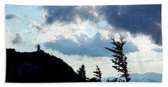 Beach Towel featuring the photograph Mountain Peak by Meta Gatschenberger