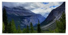 Mountain Ranges South Of Jasper Beach Towel