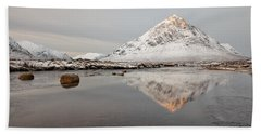 Mountain Reflection On The River Etive Beach Sheet