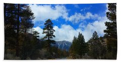 Mountain Road On A Spring Day Beach Towel by Karen J Shine