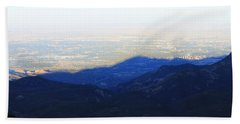 Mountain Shadow Beach Towel by Christin Brodie