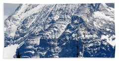 Mountain Snow Beach Towel