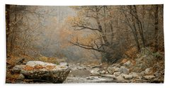 Mountain Stream In Fall #2 Beach Towel by Tom Claud