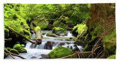 Mountain Stream In The Pacific Northwest Beach Sheet