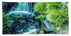 Beach Towel featuring the photograph Mountain Stream by Samuel M Purvis III